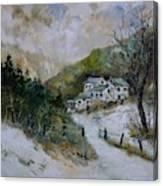 Snowy Natural Landscape Canvas Print