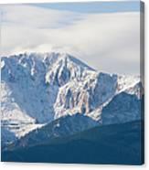 Snowy Pikes Peak Canvas Print