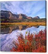 Sofa Mountain Reflecteion, Waterton Canvas Print