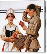 Soldier And French Girl - Digital Remastered Edition Canvas Print