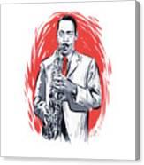 Sonny Stitt - An Illustration By Paul Cemmick Canvas Print