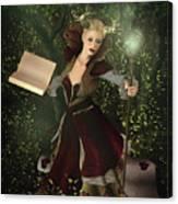 Sorceress And Magic Canvas Print