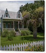 Southern Coastal Tin Roof Cottage Canvas Print