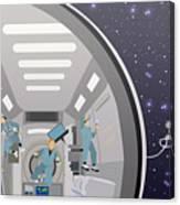 Space Mission Concept Vector Canvas Print