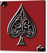 Spades Ace Card Canvas Print