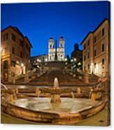 Spanish Steps Piazza Di Spagna Fontana Canvas Print