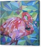 Sparkling Flamingo Canvas Print