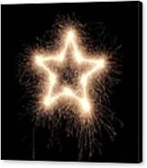 Sparkling Star Canvas Print