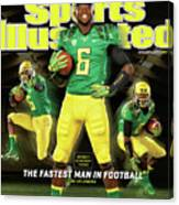 Speed Wins Oregons Deanthony Thomas, The Fastest Man In Sports Illustrated Cover Canvas Print