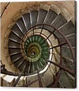 Spiral Staircase In The Arc De Canvas Print
