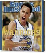 Splashdown Golden State Warriors 2015 Nba Champions Sports Illustrated Cover Canvas Print