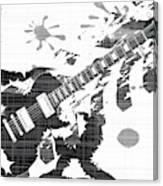 Splatter Guitar Canvas Print