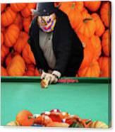 Spooky Pumpkin Pool Canvas Print
