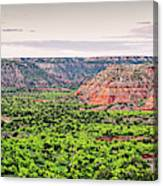 Sprawling Panorama Of Palo Duro Canyon And Capitol Peak - Texas State Park Amarillo Panhandle Canvas Print