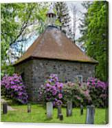 Spring At The Crispell Memorial French Church Canvas Print