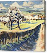 Spring In The Bellet Fruit Orchard Canvas Print