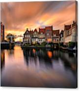 Spring Sunset In Enkhuizen Canvas Print