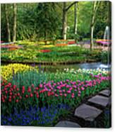 Springtime Keukenhof Gardens With Canvas Print
