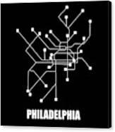 Square Philadelphia Subway Map Canvas Print
