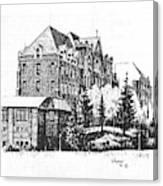 St Charles Hall Carroll College Helena Montana Canvas Print