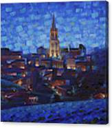St. Emilion art at night Canvas Print