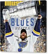 St. Louis Blues, 2019 Nhl Stanley Cup Champions Sports Illustrated Cover Canvas Print