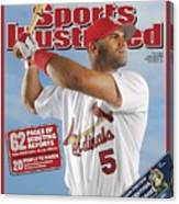 St. Louis Cardinals Albert Pujols Sports Illustrated Cover Canvas Print