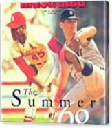 St. Louis Cardinals Bob Gibson And Detroit Tigers Denny Sports Illustrated Cover Canvas Print