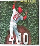 St. Louis Cardinals Curt Flood Sports Illustrated Cover Canvas Print