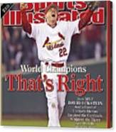 St. Louis Cardinals David Eckstein, 2006 World Series Sports Illustrated Cover Canvas Print