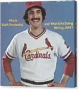 St. Louis Cardinals Keith Hernandez Sports Illustrated Cover Canvas Print