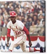 St. Louis Cardinals Lou Brock, 1967 World Series Sports Illustrated Cover Canvas Print