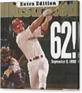 St. Louis Cardinals Mark Mcgwire, Baseball Sports Illustrated Cover Canvas Print