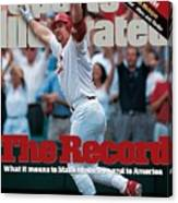 St. Louis Cardinals Mark Mcgwire... Sports Illustrated Cover Canvas Print