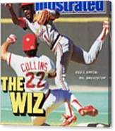 St Louis Cardinals Ozzie Smith... Sports Illustrated Cover Canvas Print