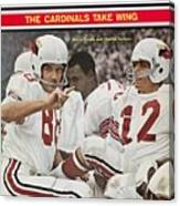 St. Louis Cardinals Sonny Randle And Qb Charley Johnson Sports Illustrated Cover Canvas Print