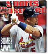 St Louis Cardinals V Milwaukee Brewers - Game 6 Sports Illustrated Cover Canvas Print