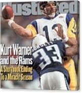 St. Louis Rams Qb Kurt Warner, Super Bowl Xxxiv Sports Illustrated Cover Canvas Print