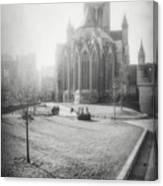 St Nicholas Church Ghent Belgium Black And White Canvas Print