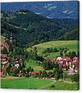 St. Peters Abbey, Black Forest, Germany Canvas Print