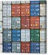 Stack Of Cargo Containers Full Frame Canvas Print