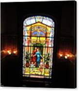 Stained Glass At Moody Mansion Canvas Print