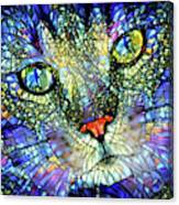 Stained Glass Cat Art Canvas Print