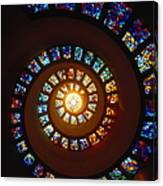 Stained Glass Window, Thanksgiving Canvas Print