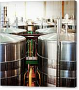 Stainless Steel Holding Tanks In A Canvas Print