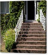 Stairs Leading To The Entrance Of A House Canvas Print