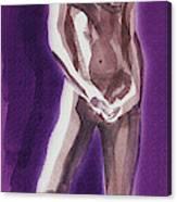Standing Nude Model Gesture Xxxix Canvas Print