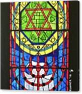 Star Of David Stained Glass Canvas Print