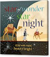 Star Of Wonder Canvas Print