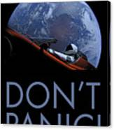 Starman Don't Panic In Orbit Canvas Print